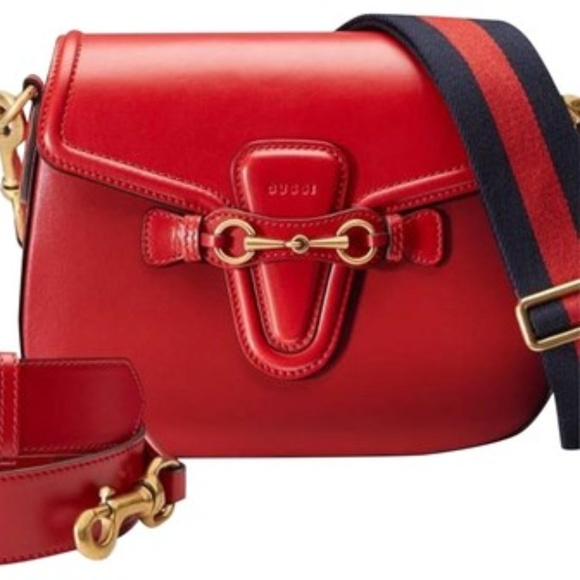 68acb318a995 Gucci Bags | New Lady Web New Red Leather Cross Body Bag | Poshmark